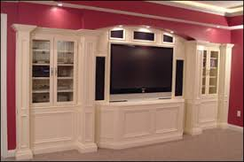 Media Room Built In Cabinets - workman services llc