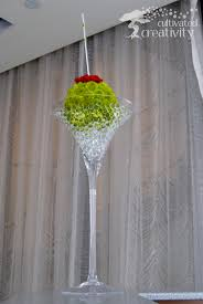 giant martini floral design u2013 cultivated creativity