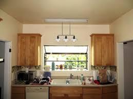 Kitchen  Kitchen Glossy Above Kitchen Sink Lighting With Bright - Kitchen sink lighting