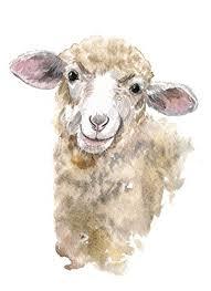Sheep Nursery Decor Sheep Watercolor Print 8x10 Inches Sheep Baby Sheep