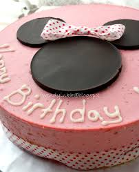 Table For 2 Or More Hannah U0027s 2 Minnie Mouse Birthday Cakes