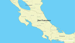 san francisco on map where is san francisco costa rica where is san francisco