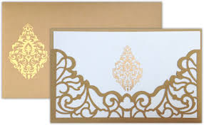 Marathi Wedding Invitation Cards Laser Artwork On The Holder Pocket Of The Invitation Card