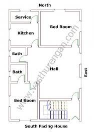 2 Bedroom House Plans Vastu South Facing Houses Vastu Plan 1 Vasthurengan Com