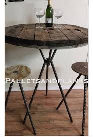 Cable Reel Chair Adjustable Bar Height Counter Height Pub Spool Bistro Table