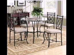 dining room furniture glass table top 4 chairs 5 piece dinette set