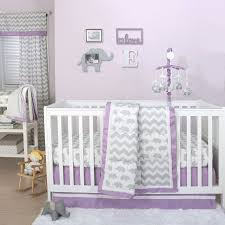 Zig Zag Crib Bedding Set The Peanut Shell 4 Baby Crib Bedding Set Grey