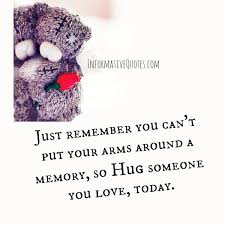 you can t put your arms around a memory informative quotes
