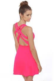 hot pink dress hot pink lulus dress dress me up hot pink neon