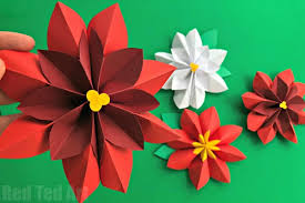 easy paper flowers poinsettia ted s