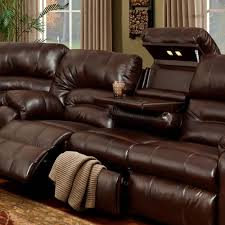 Microfiber Recliner Sofa by Interior Impressive Spartan Reclining Sofa With Drop Down Table
