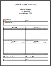 free home school homeschool student high school transcript template free to