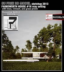 sketchup model farnsworth house vray setting virmesh u0026 proxies