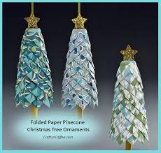 diy folded paper pinecone ornaments jpg w 640 pine cone ornament