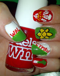 British Flag Nails Welsh Nails All Ready For The Rugby Nails Pinterest
