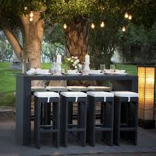 Patio Bar Furniture Sets - elisabeth cushioned cast aluminum patio bar height set at