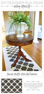 Diy Runner Rug Diy Designer Rug Ideas Using Stencils Stencil Stories Stencil