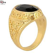 aliexpress buy mens rings black precious stones real mens rings black precious stones real ring for men retro texture