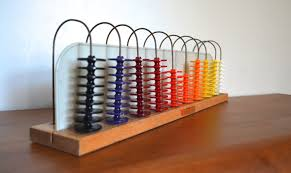 vintage industrial 1960s rainbow abacus by ideal