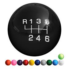 mustang 6 speed shift knob 2 1 8 solid color 6 speed st 2013 2017 mustang 2011 2017