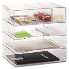 Rubbermaid Desk Organizers Rub 94600ros Rubbermaid Optimizers Four Way Organizer With Drawers