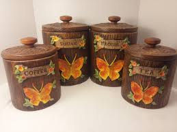 Brown Canister Sets Kitchen by Country Kitchen Canister Set Retro Kitchen Canister Sets
