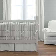 silver gray linen crib skirt box pleat carousel designs