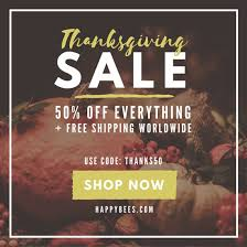 thanksgiving sale social media post templates by canva