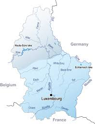 Map Of Luxembourg Waterways Luxembourg