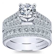 double engagement rings images Gabriel co double pave european shank diamond bridal set jpg