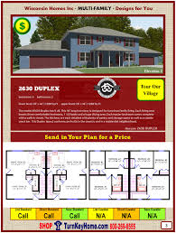 2630 duplex e2 wisconsin homes inc modular multi family home plan