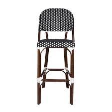 Woven Bistro Chairs Parisian Bar Stools Paris Bistro Bar Stool Frontgate Aluminum