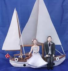 boat cake topper wedding cake toppers of and groom and yacht craftjuice
