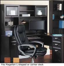 Realspace Magellan L Shaped Desk And Hutch Magellan Office Furniture Crafts Home