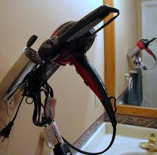 curling iron wall mount pottery blowdryer curling iron holder blow drying