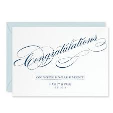 script personalised engagement congratulations card u2013 project pretty