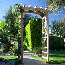 English Garden Pergola by Greenstone American Bungalow 7 Ft Wood Pergola Arbor Hayneedle