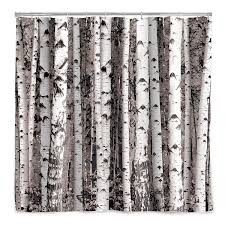 shower curtains with trees gardens and landscapings decoration birch forest shower curtain tree decor bath accessories birch forest shower curtain 1 thumbnail