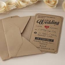 vintage invitations wedding invitations in brown kraft vintage affair