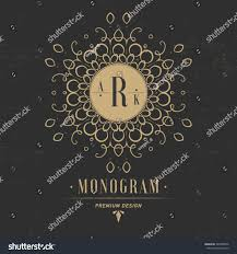 monogram letter r luxury logo flourishes stock vector 345380036