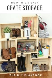 get organized with budget friendly storage made from wooden crates