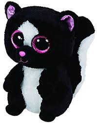 amazon ty beanie boos flora black white skunk plush toys u0026 games