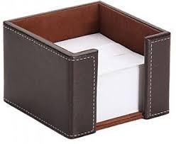 paper holder faux leather memo pad paper holder post it note block box dispenser