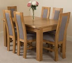 seattle dining set with 6 stanford chairs oak furniture king
