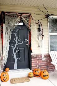 Witch Decorating Ideas Front Door Halloween Decorations Black And White Halloween