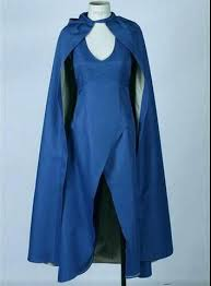 Daenerys Targaryen Costume Daenerys Targaryen Game Of Thrones Costume Blue Dress Cloak A Song