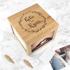 personalised keepsake box personalised s oak photo keepsake box my gifts