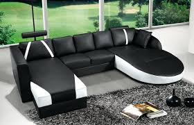 canapé angle cuir noir canape canape d angle cuir noir deco in en et blanc