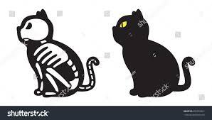 Skeleton Halloween by Cat Skull Bone Skeleton Halloween Icon Stock Vector 682235821