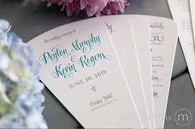 Wedding Ceremony Fan Programs 4 Blade Petal Program Fan Romantic Style Wedding Ceremony Programs